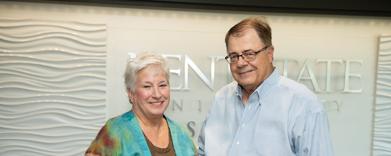 Ashtabula Dean Susan Stocker and Mark Andrews of the Norman Laine Family Trust