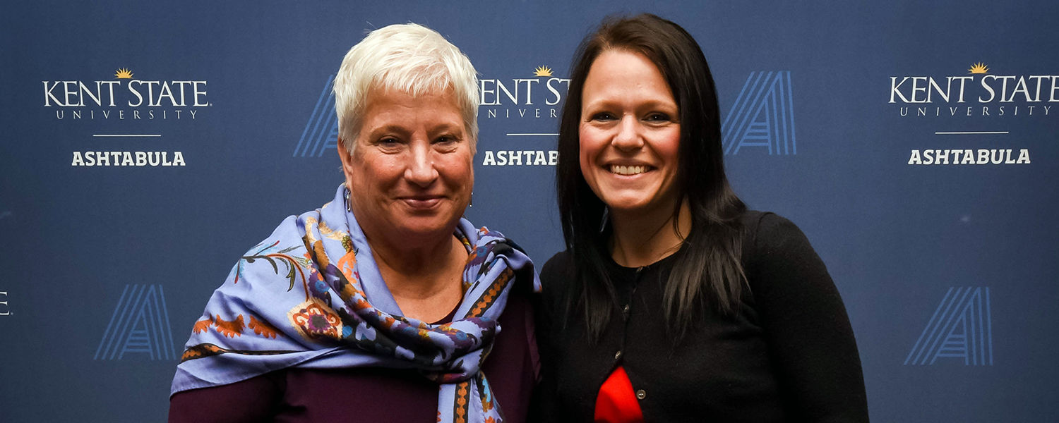 Kent State Ashtabula student Valerie Smith (right) was named to The Sage Project Class of 2019