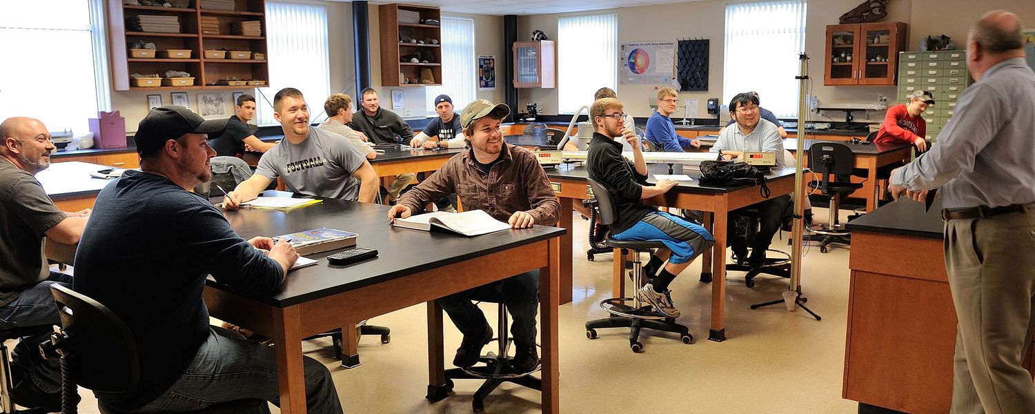 Dr. Minnick with Students