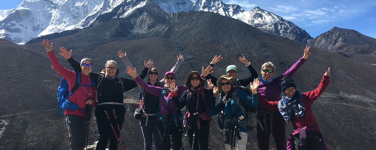 Marcy's trekking partners, Wild Women Expeditions, a Canadian-based, women-only, women-run, travel group.