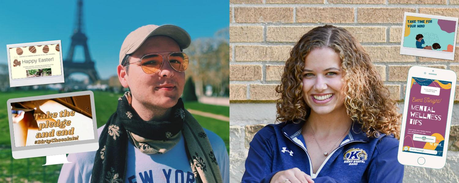 Photos of two students