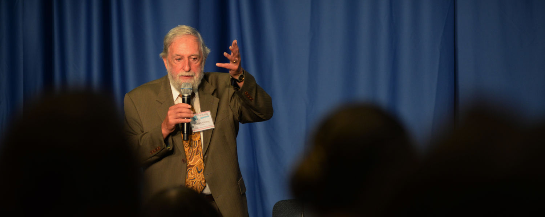 Dr. Frank Ochberg, the workshop keynote speaker, helped define post traumatic stress disorder.