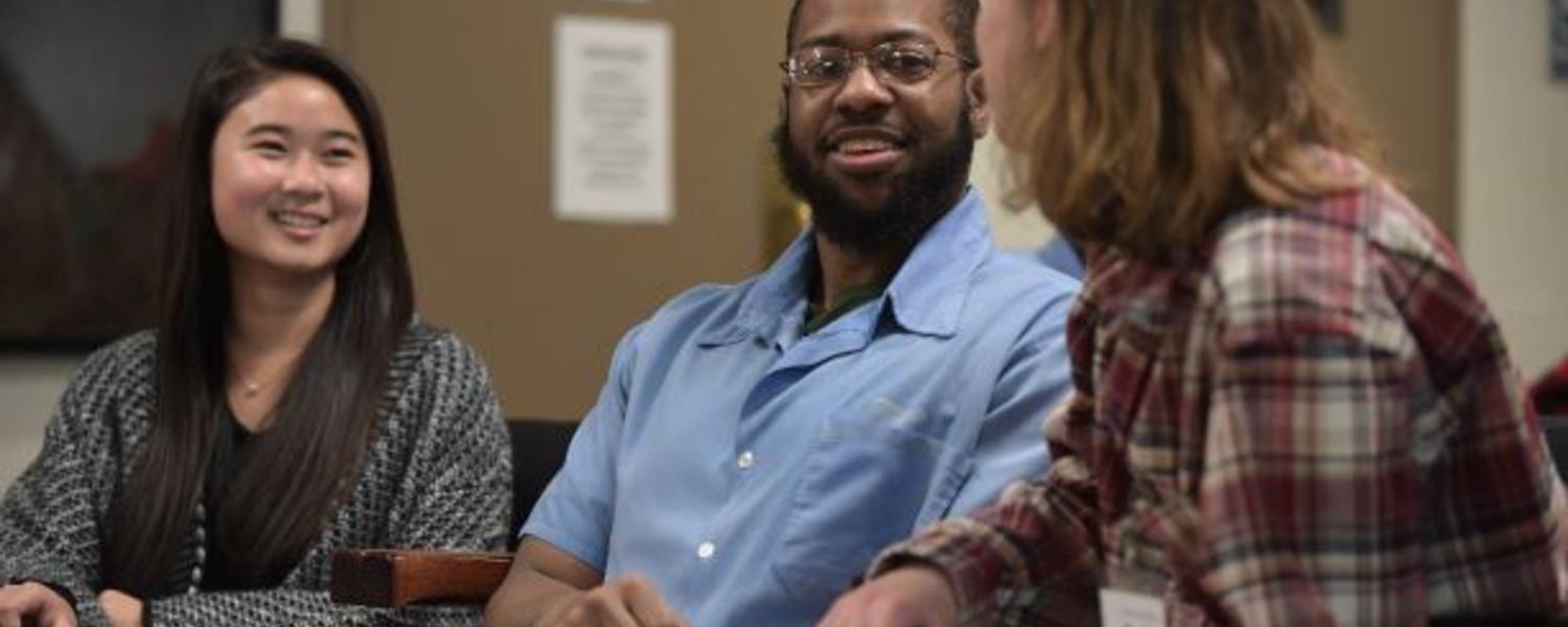 Kent State students attend class with inmates from the Trumbull Correctional Institution.