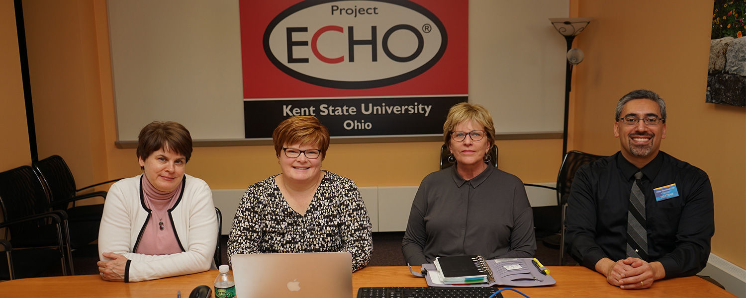 Project ECHO investigators. From left: Dr. Kimberly Williams, Dr. Andrea Warner Stidham, Dr. Wendy Umberger, Dr. Mark Arredondo