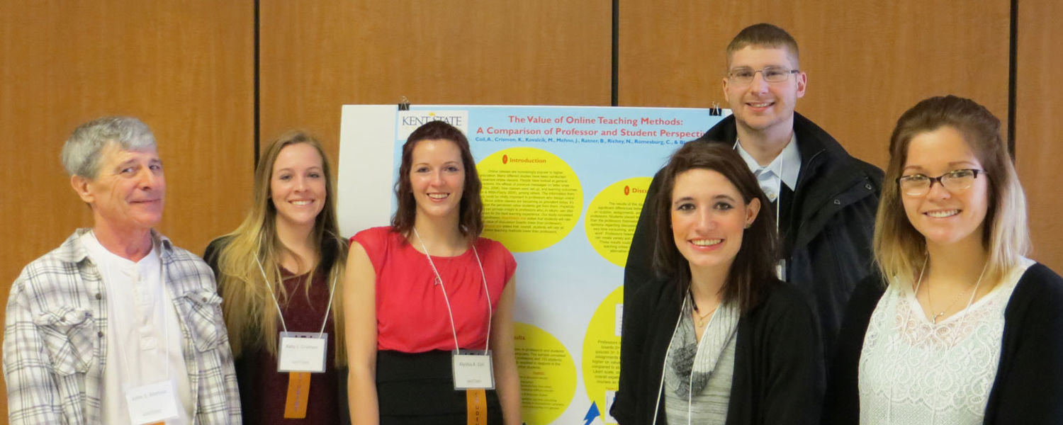 Several students in Dr. Rachael Blasiman's research methods class participated in Kent State's 2015 Undergraduate Symposium.