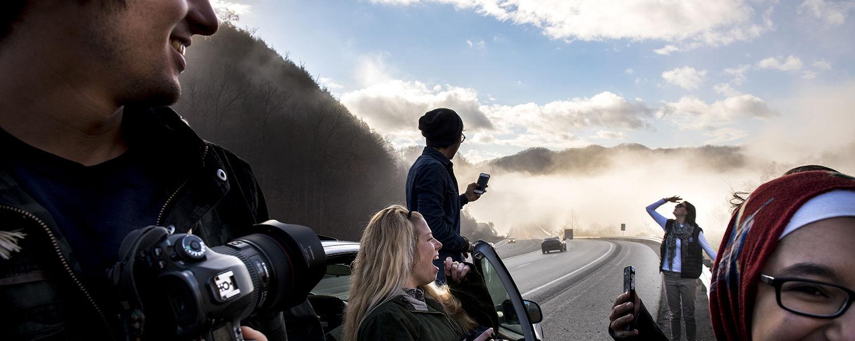 Santa Train - Photojournalism
