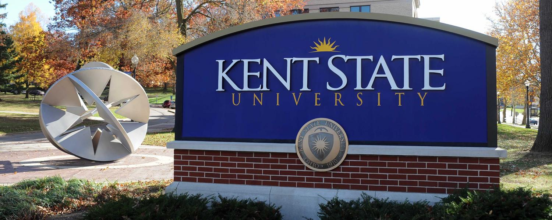 Kent State University sign