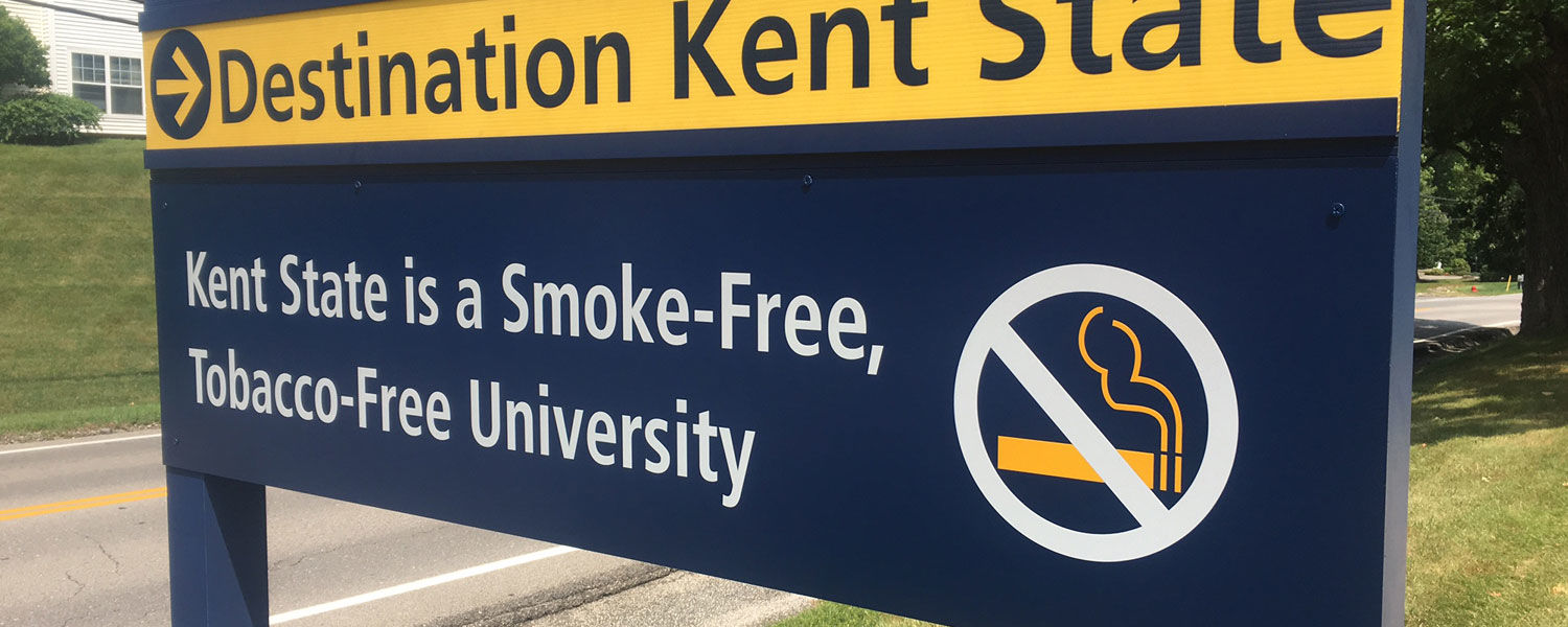 Starting July 1, 2017, all Kent State University campuses will become smoke-free and tobacco-free.