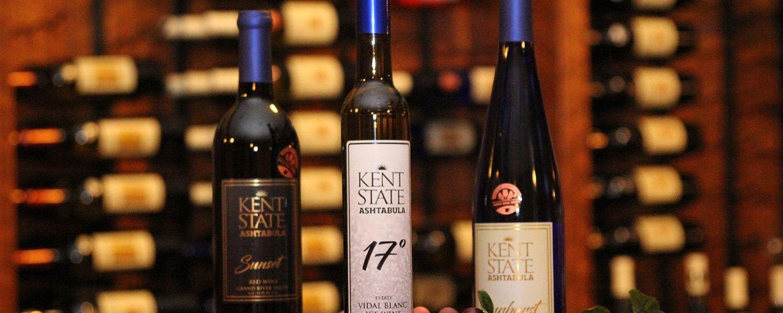 Kent State Ashtabula's Wine Collection Including Sunset, Sunburst and 17°