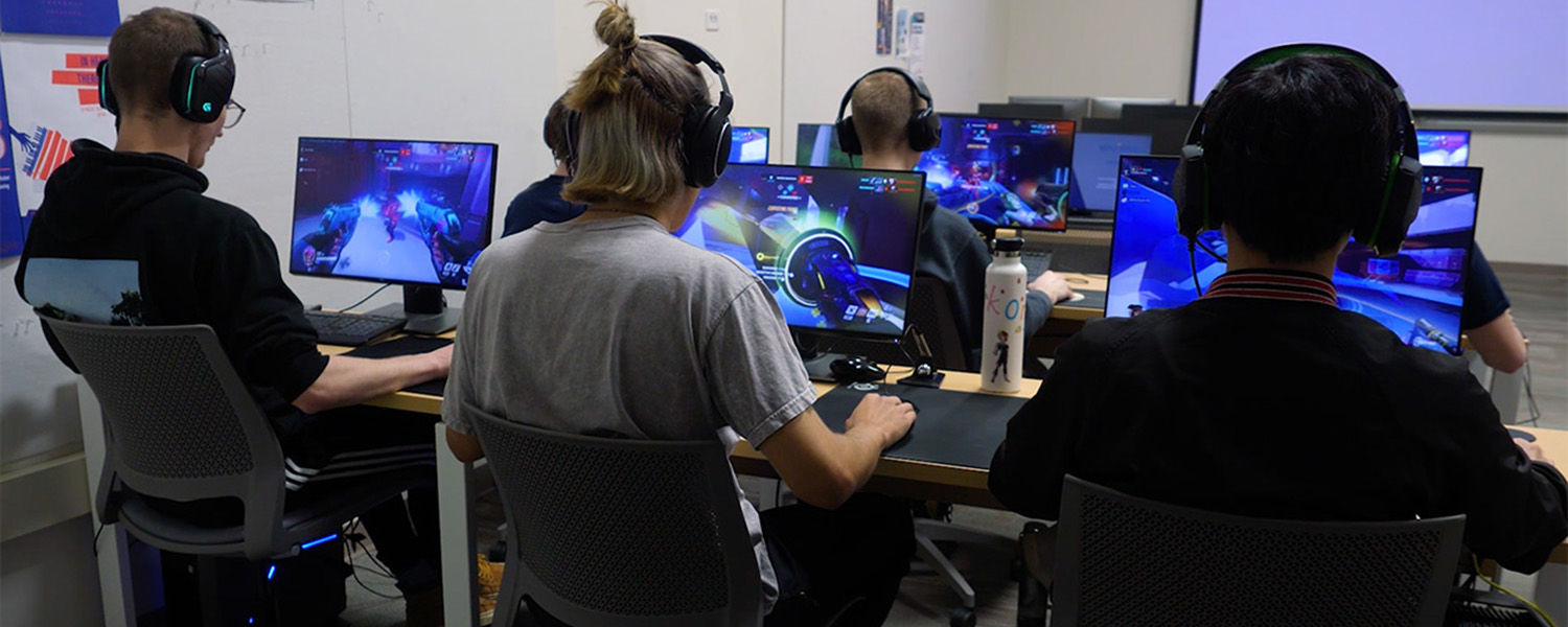 Kent State University students practice their egaming skills prior to Kent State's first Esports Tournament, which took place May 5 in the Memorial Athletic and Convocation Center (MAC Center).