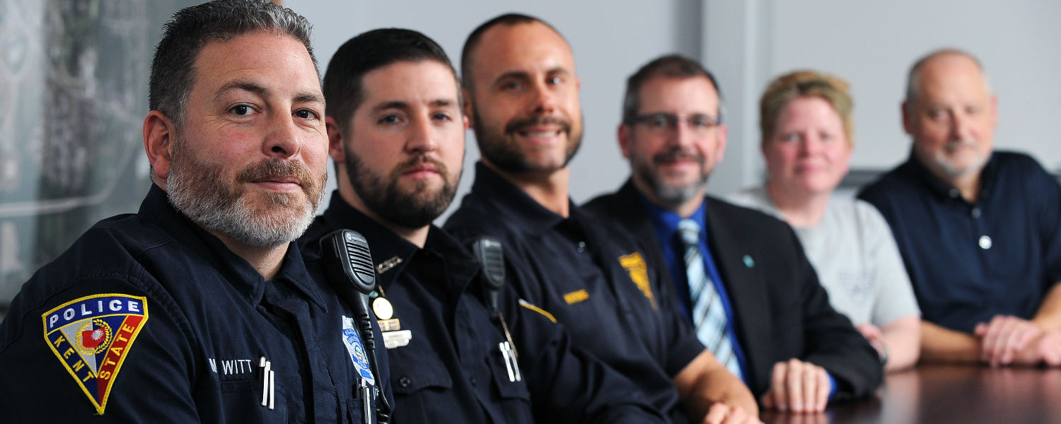 Kent State police officers took part in No-Shave November to raise awareness about cancer.