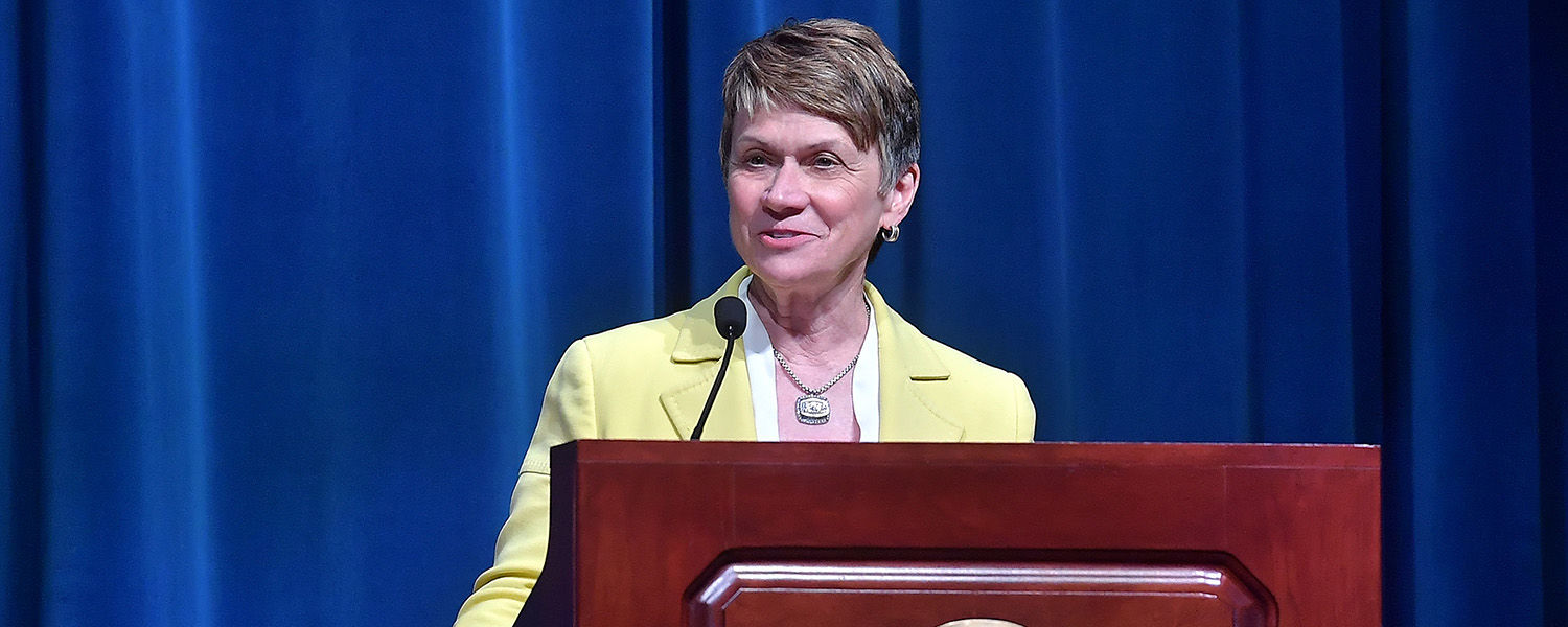 """Kent State University President Beverly J. Warren was among the featured lecturers during the Chautauqua Institution's weeklong investigation of """"The Forgotten: History and Memory in the 21st Century,"""" which runs through Aug. 18."""