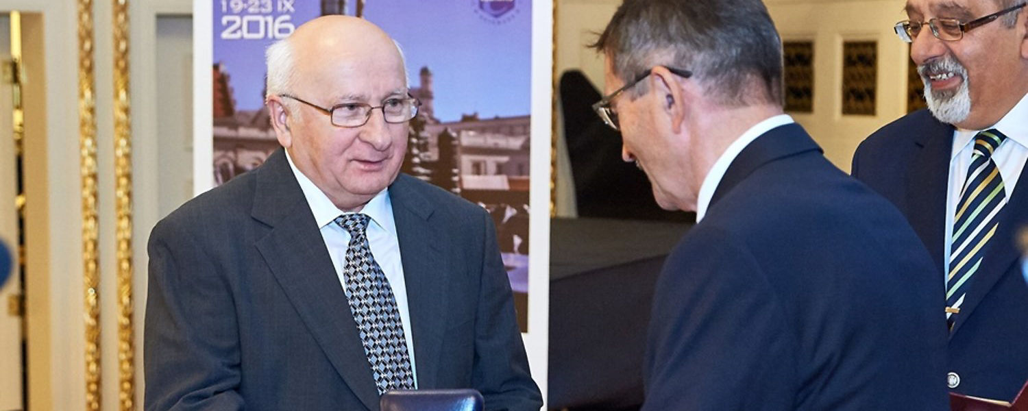 Mietek Jaroniec, Ph.D., a professor in Kent State's Department of Chemistry and Biochemistry, was recently awarded the Medal of Marie Sklodowska-Curie by the Polish Chemical Society for his scientific achievements.