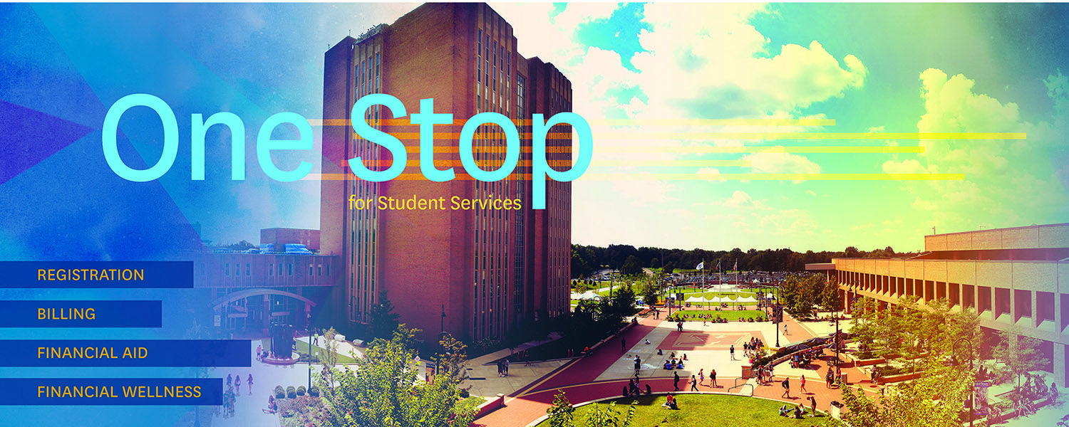 The One Stop for Student Services will serve as a single point-of-contact for student customer services previously provided at the Bursar, Registrar and Student Financial Aid offices.