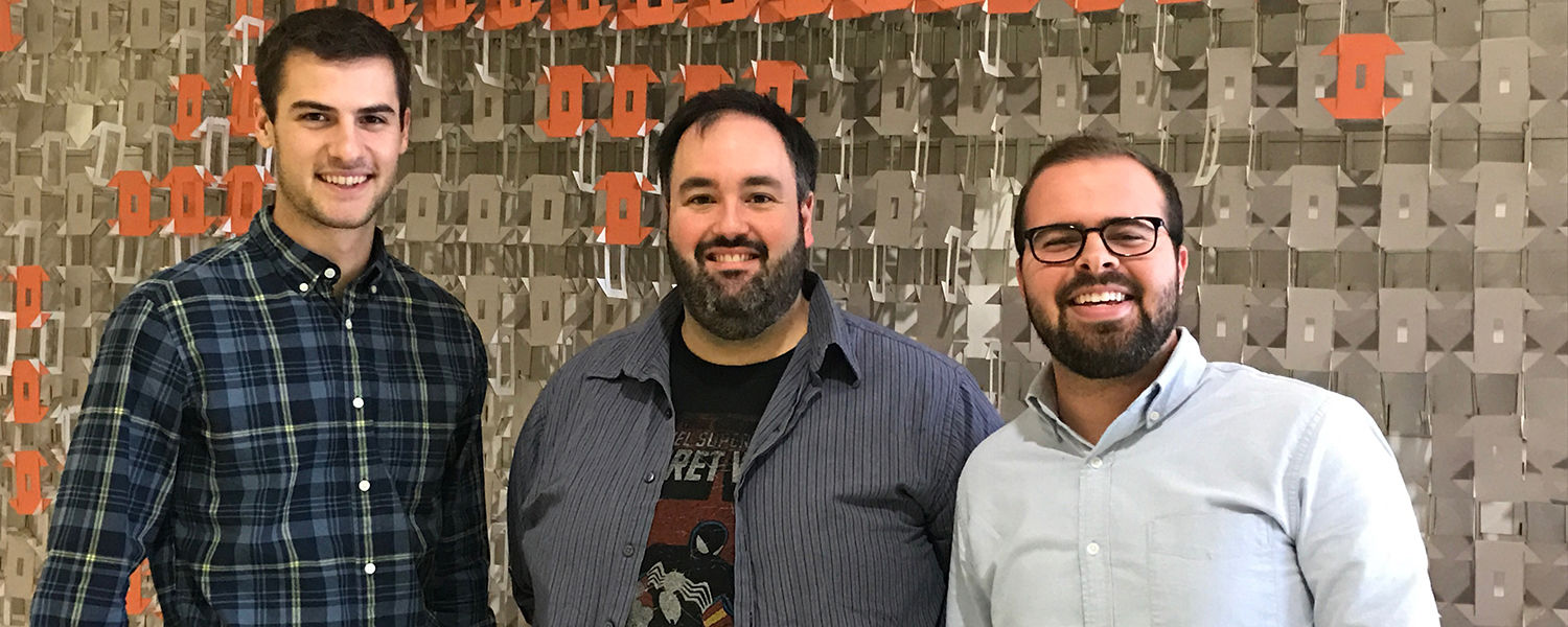 Pictured are Circl App developers (from left to right) Michael Frindt, Ronald Dear and Zachary Eckert.