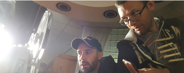 Kent State University employees Dustin Lee and Jon Jivan enjoy making movies in their spare time.