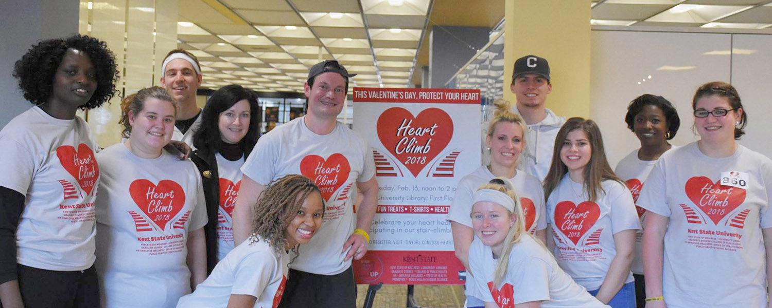 Members of the Kent State community organized the 2018 Heart Climb event, which received funding from Kent State's Seeds of Wellness program.