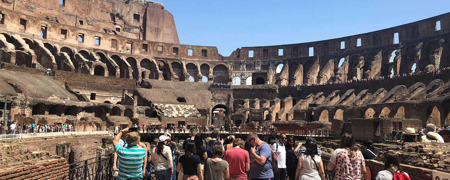 Nicole Brooks, associate IT security analyst with the Division of Information Services, took this photo inside the Coliseum in Rome during her trip to Europe.