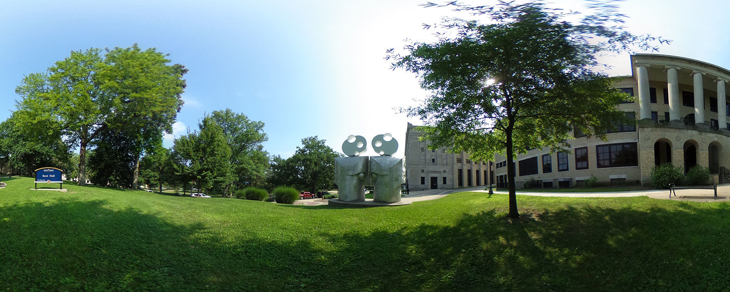 The Kent Campus looks beautiful on a summer day.