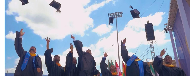 Kent State University graduates celebrate at Commencement.