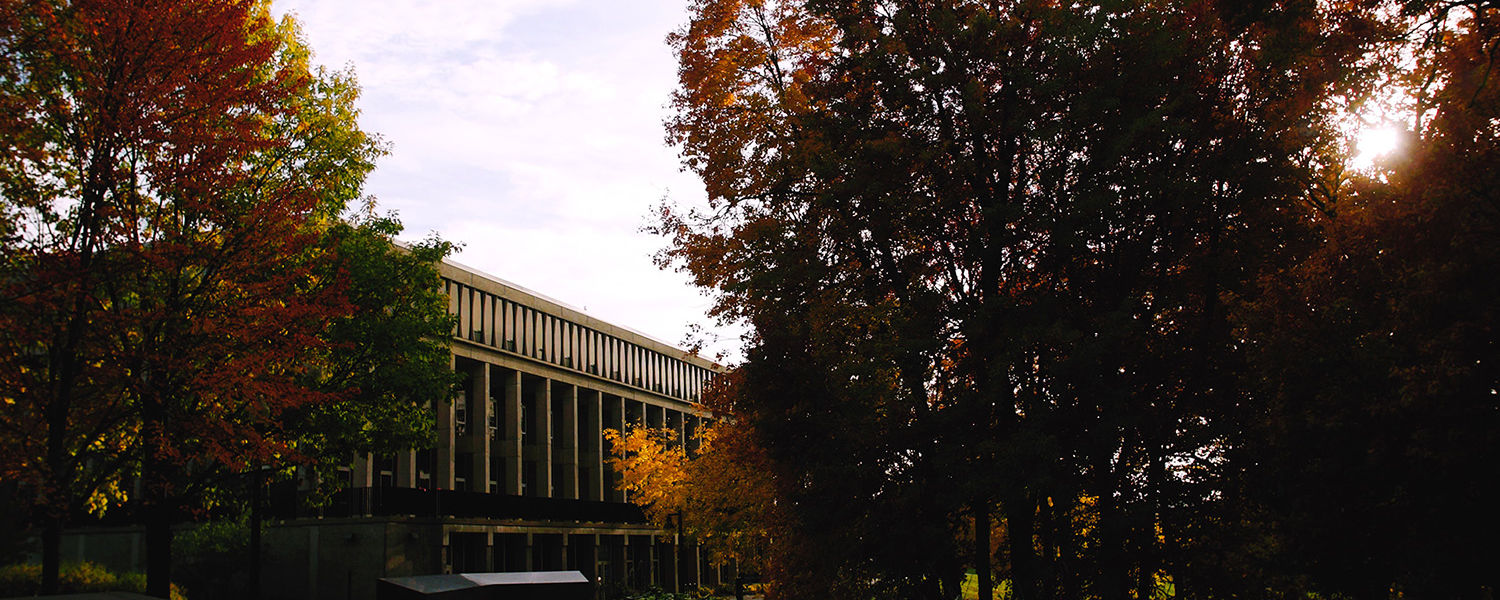 Pictured is the Kent Campus on a beautiful fall day.