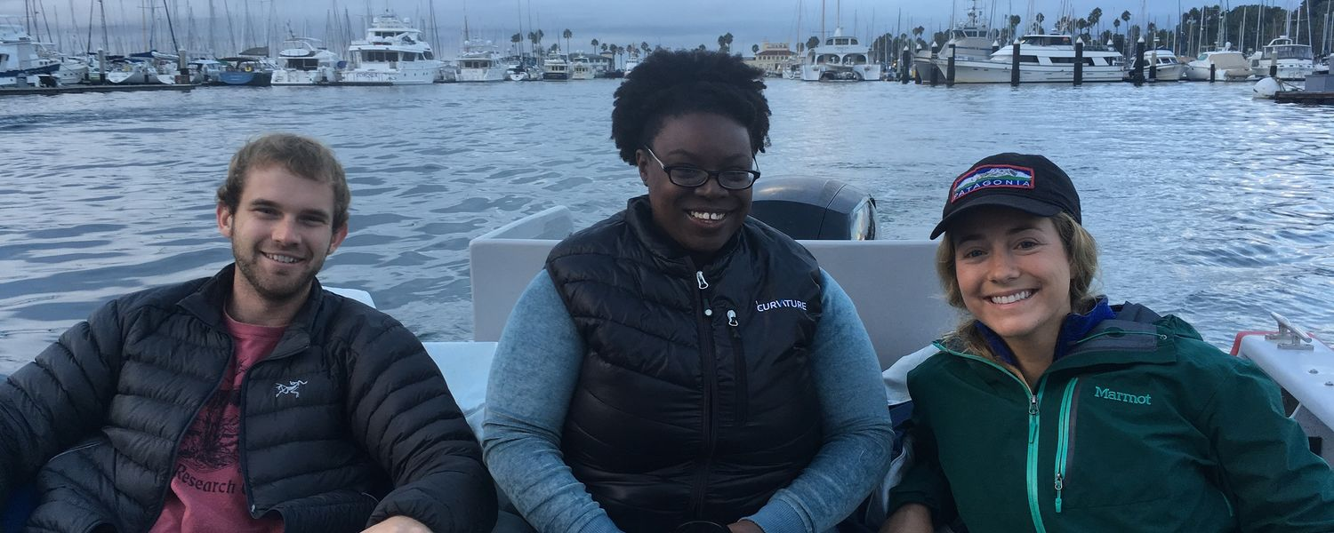 Three graduate students part of the new seafloor Mappers-in-Training Program