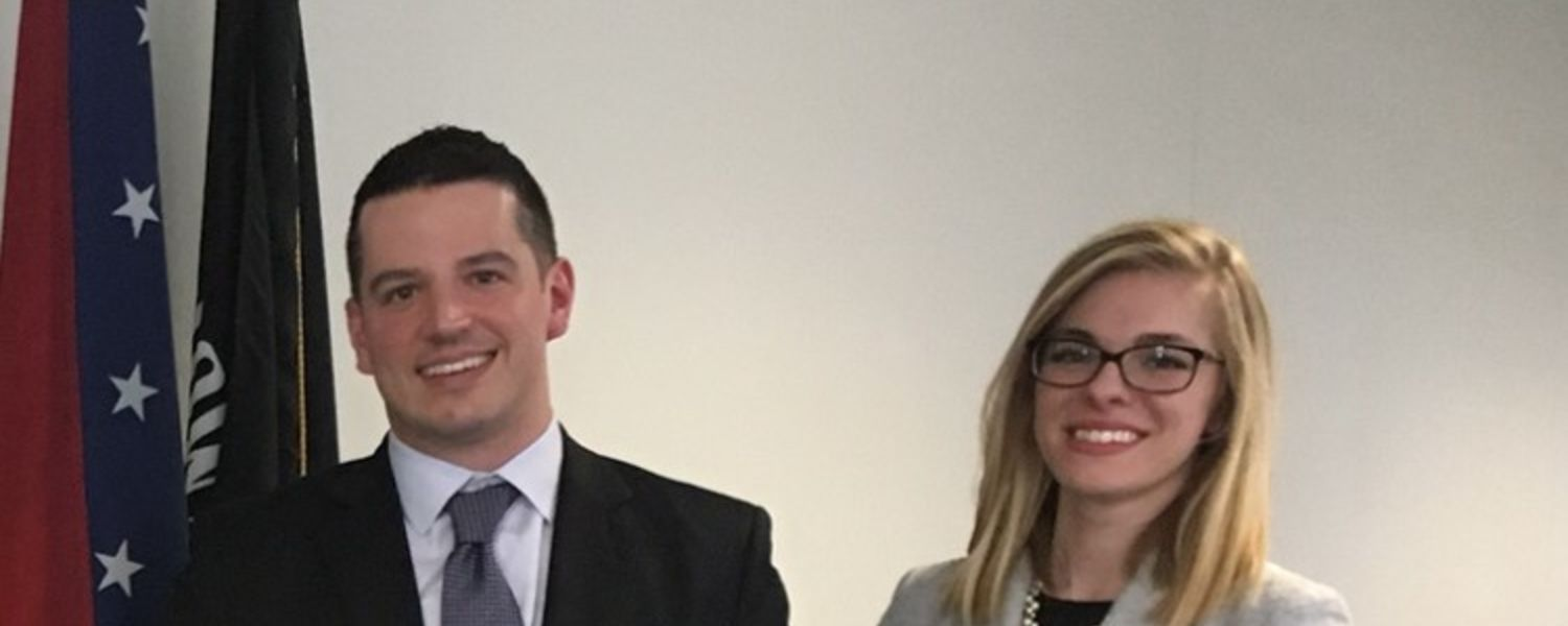 Jason Fisher, BSN, RN-BC, CCRN-CMC, MSN/FNP graduate student, and Suzanna Thiese, BSN student, recently advocated for nursing policy on Capitol Hill.