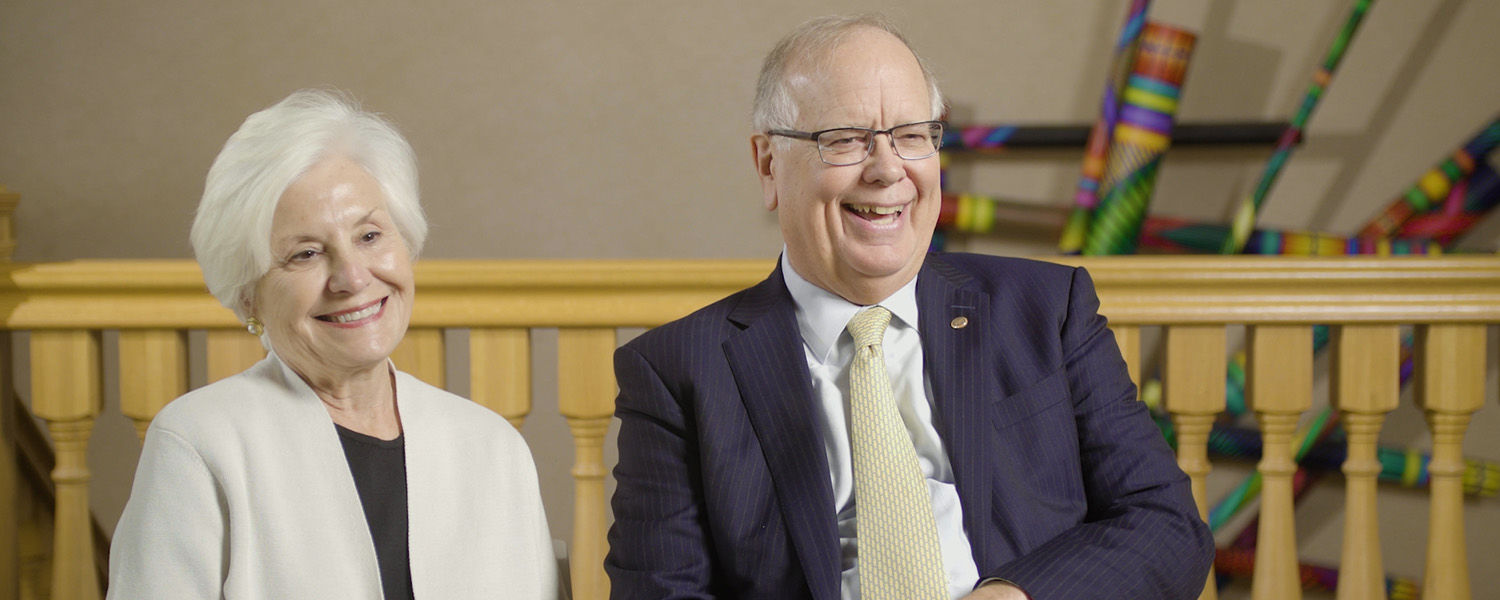Kent State alumni and benefactors Fonda and John Elliot reflect on their time at the university.