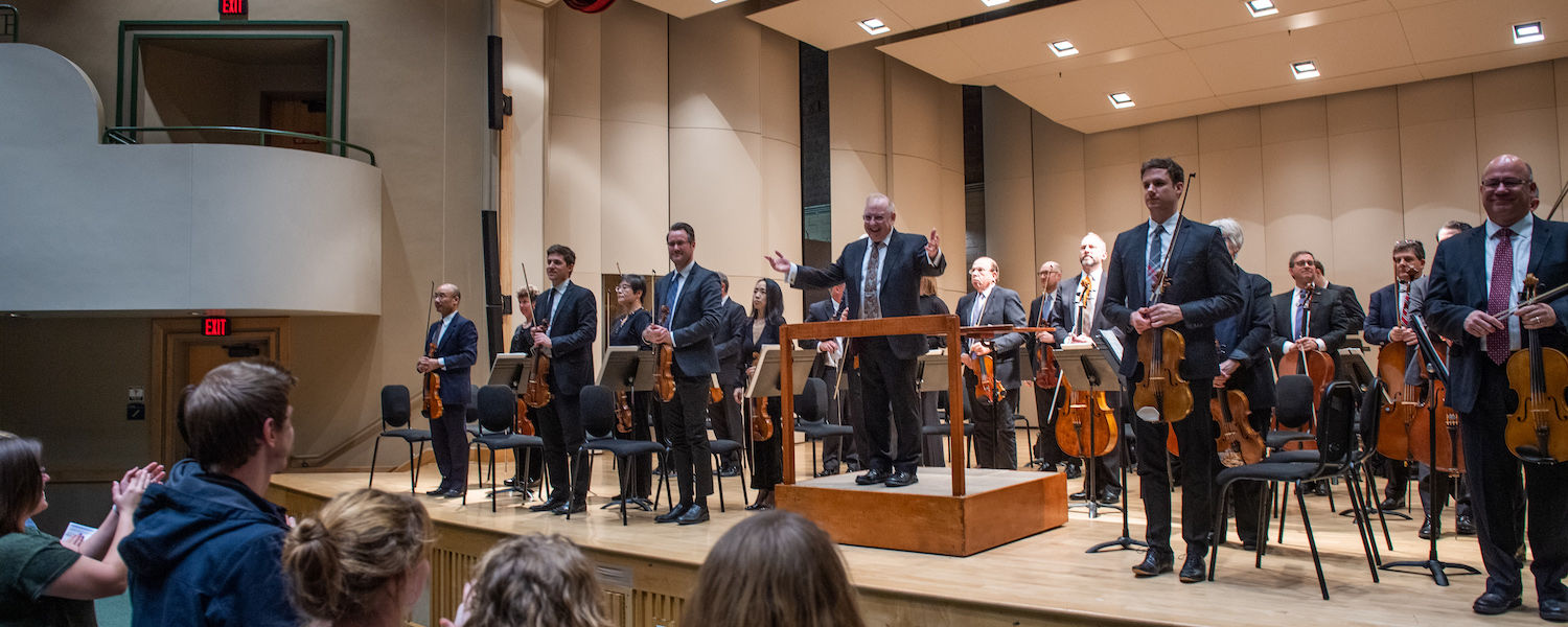 The Cleveland Orchestra performing in Cartwright Hall 2019