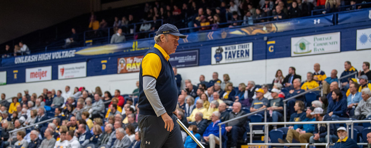 Todd Mops the Floor at a Golden Flashes Basketball Game