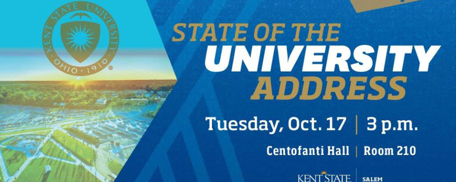 Join Us Tuesday, Oct. 17 for The State Of The University Address
