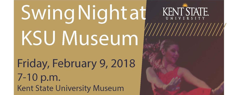 Swing Night at the KSU Museum Flier