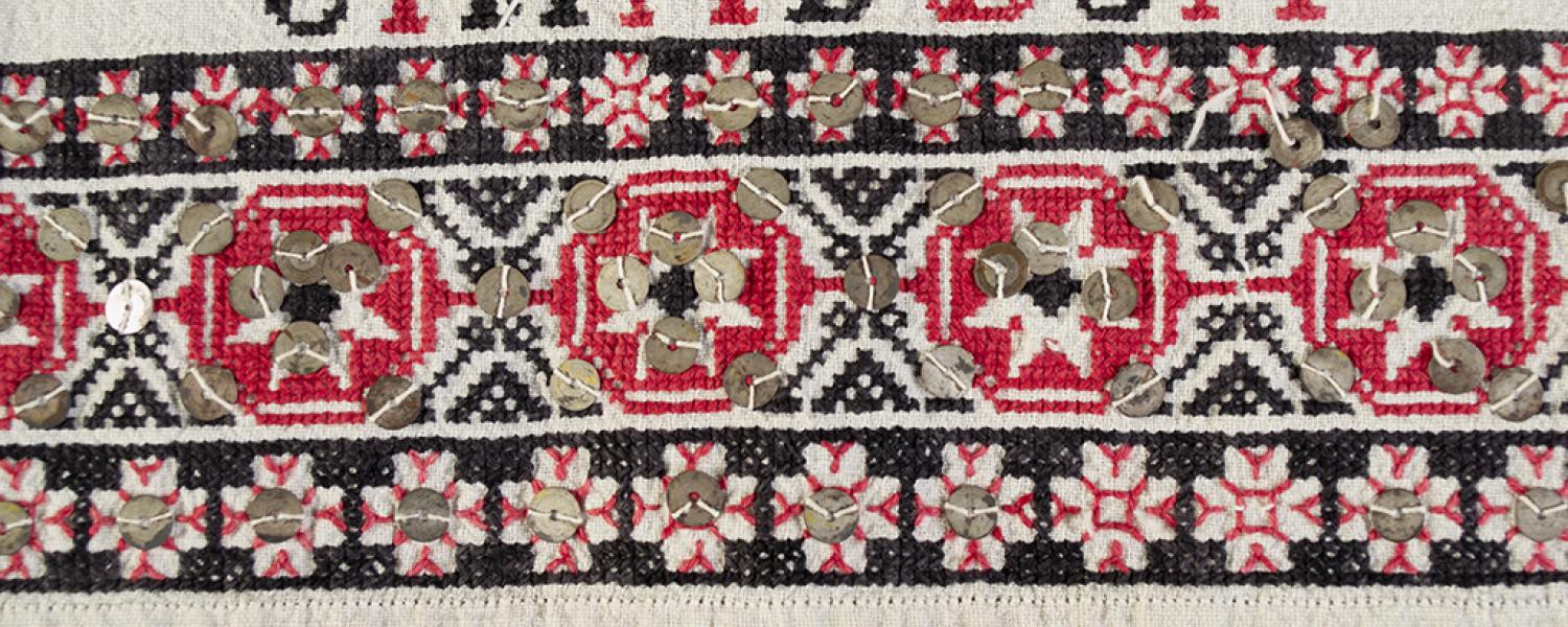 Romanian embroidered shirt detail