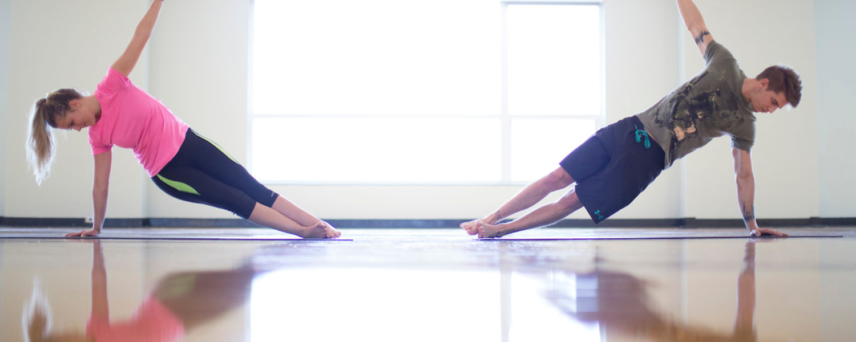 KSU Students participating in yoga