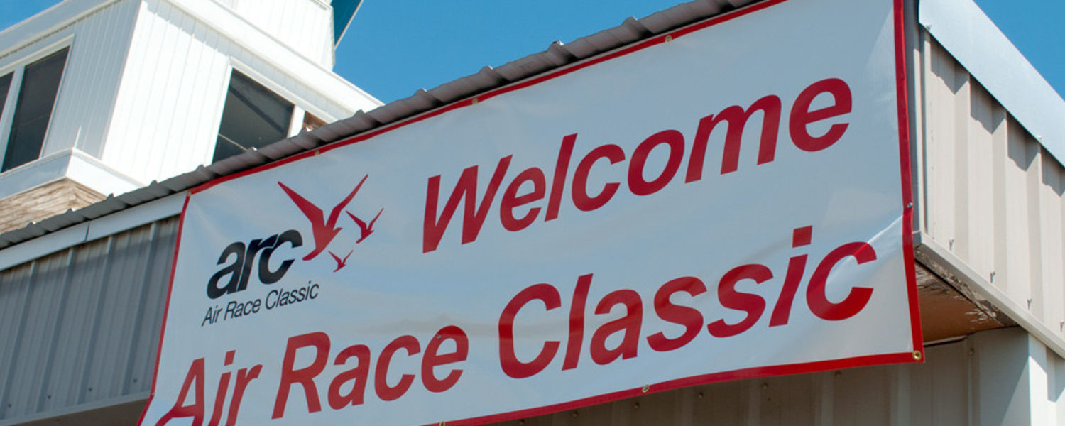 Picture saying welcome to air race classic