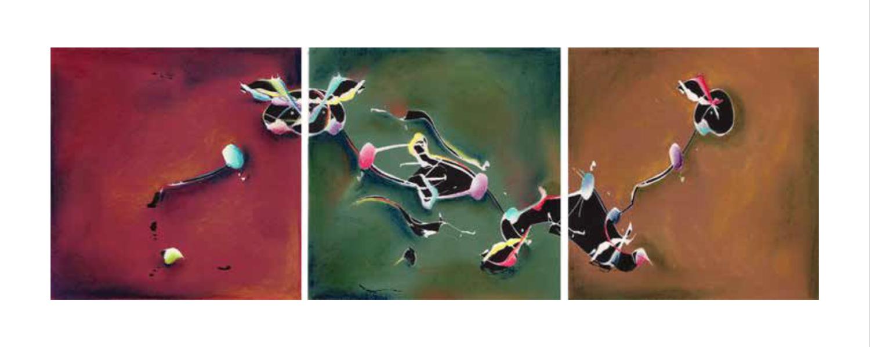 Christine Gorbach, My Regards Tryptich, 2004