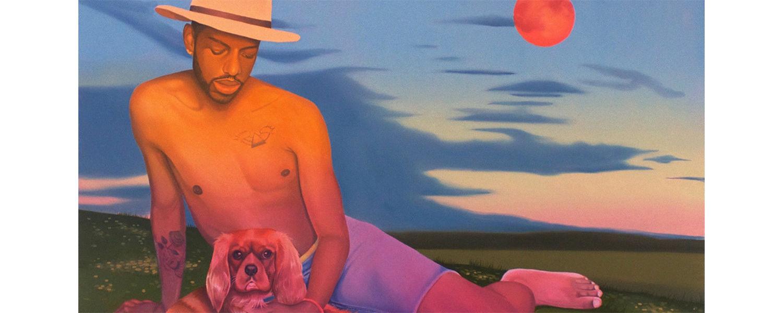 "Danny Ferrell, River Moon, oil on canvas, 48"" X 60"", 2018"