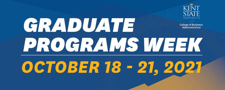 Grad programs week