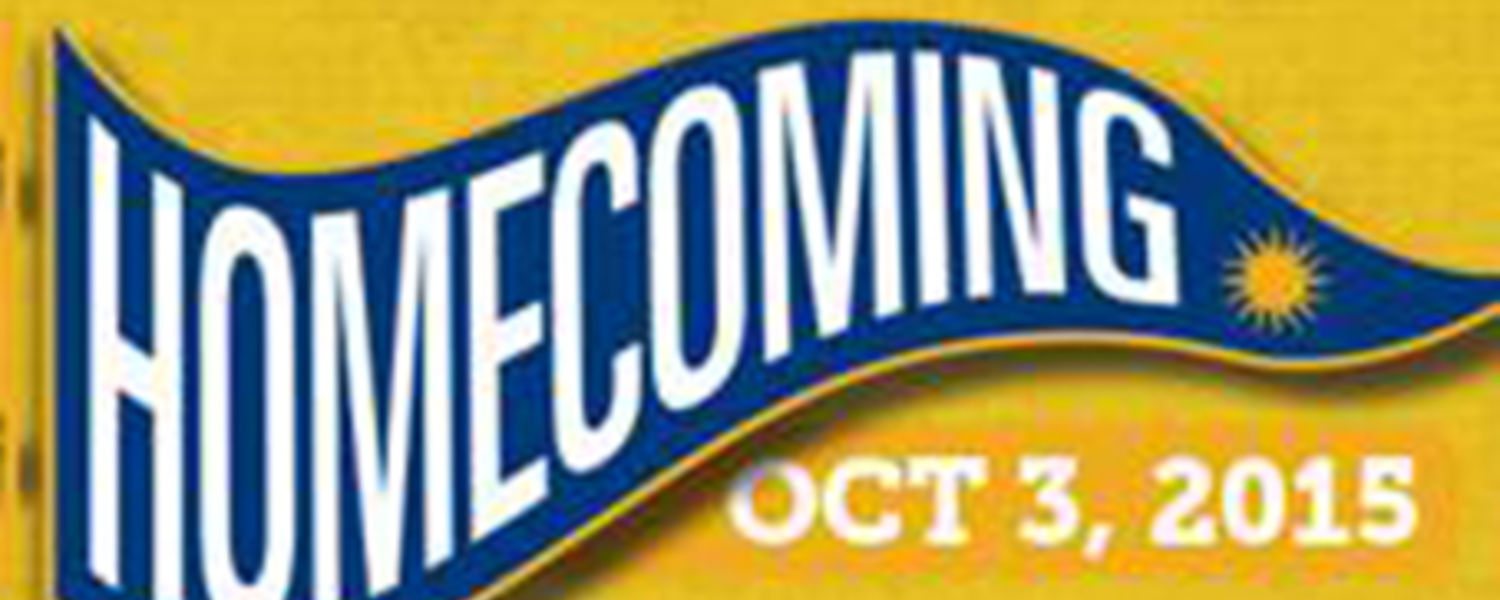 Homecoming will take place October 3, 2015.