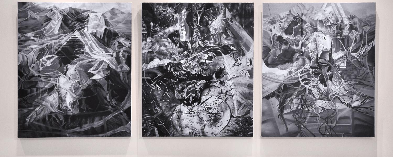 """""""Interstice"""" Triptych by Sarah Sutton"""