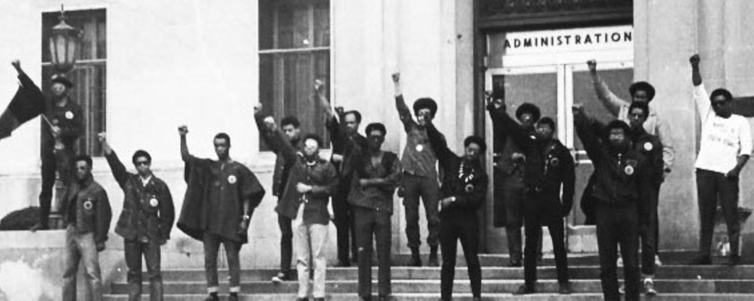 Black United Students stand in protest in front of KSU Administration Building