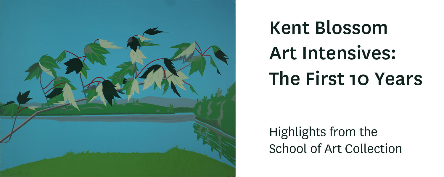 "Kent Blossom Art intensives: The First Ten Years, Highlights from the School of Art Collection, image: Alex Katz, ""Late July"" Lithograph"