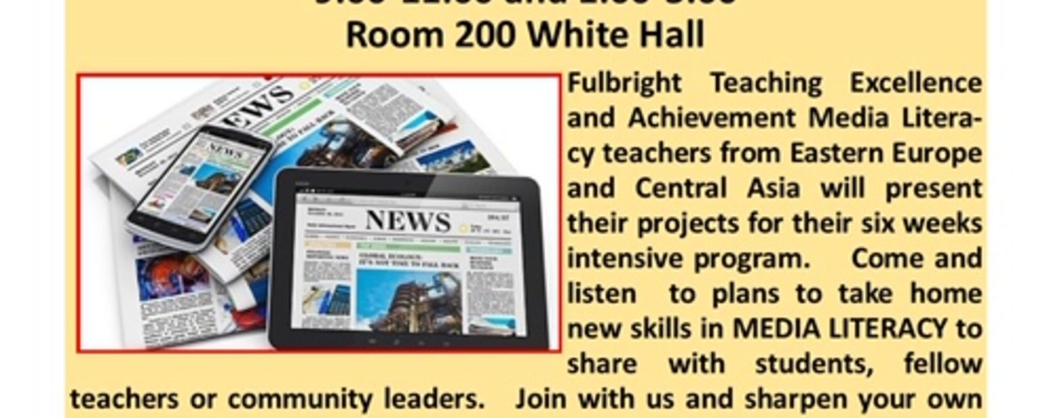 Picture of Fulbright Media Literacy Talk on March 5, 2020