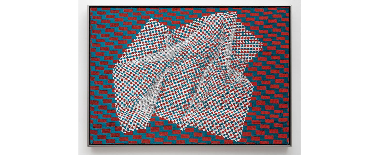 Marianne Fairbanks, weaving, Gradient Slippage, 2018