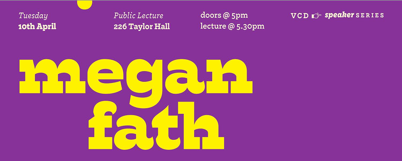 Megan Fath Public Lecture Taylor Hall