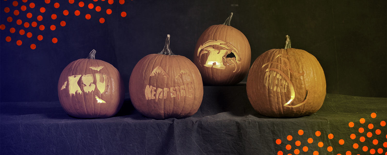 Kent State themed Jack-O-Lanterns