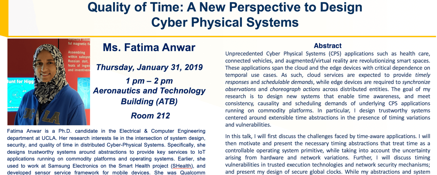 Poster for Faculty Candidate Seminar