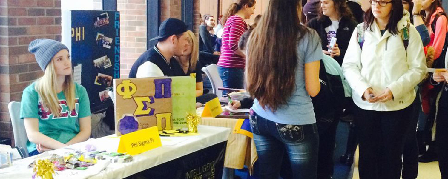Booth at the Student Organization Fair