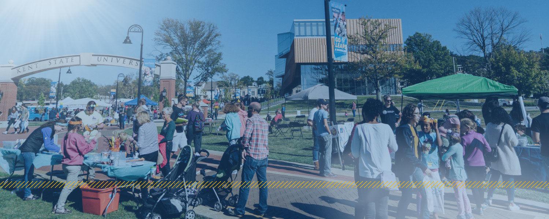 Crowd of people at Kent Creativity Festival on Esplanade