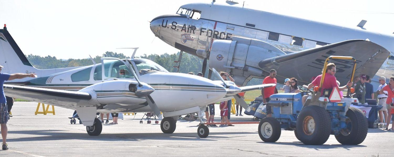 photo 2016 Aero Fair towmotor towing aircraft into position